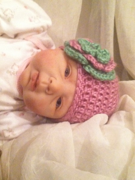 finished infant hat