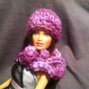 finished hat and scarf