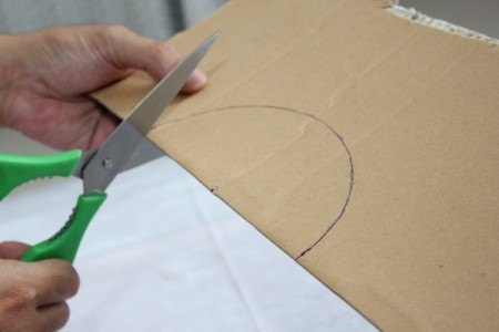 cutting out semicircle