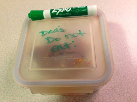 Dry Erase Marker to Label Leftovers