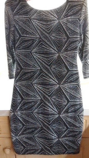 black dress with glitter pattern