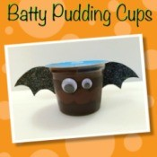 Making Batty Pudding Cups