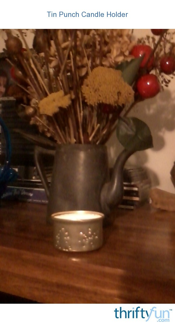 Tin punch candle holder thriftyfun - Punched metal candle holder ...