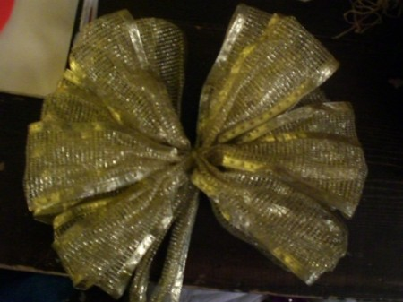 completed bow tail