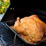 A turkey on the grill