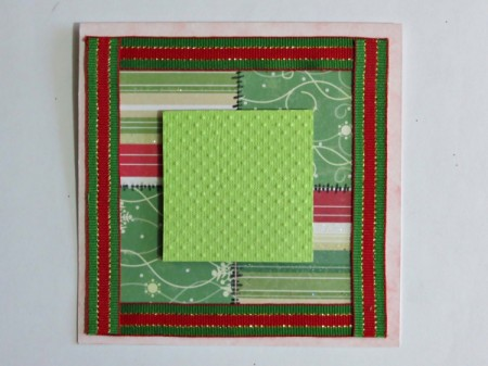 green square in center of card
