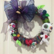 VooDoo Doll Wreath