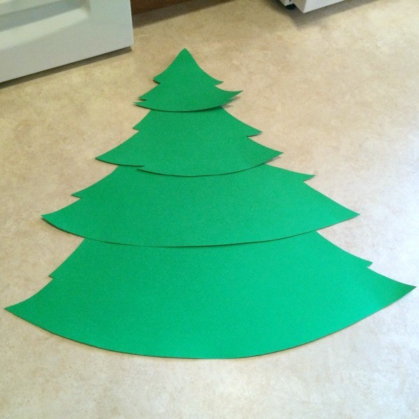 Christmas Tree Cut Out Template