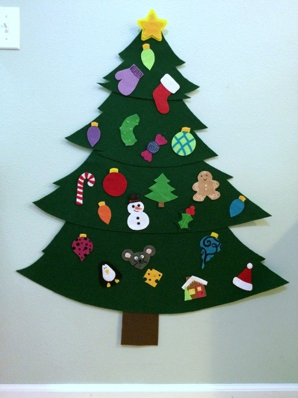 Christmas Decorations To Make Tree : Making a felt christmas tree thriftyfun