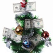 Christmas tree with money