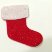 Felt Christmas Stocking Ornament