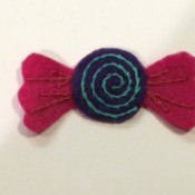 Felt Candy Ornament