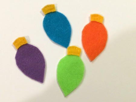 Felt Christmas Lights