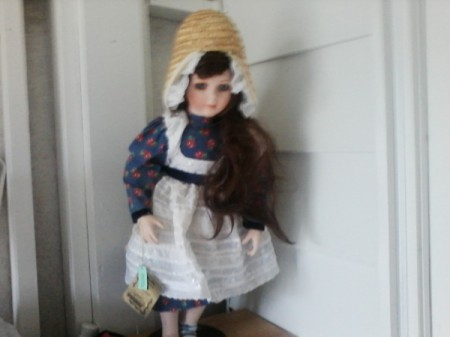 closeup of doll