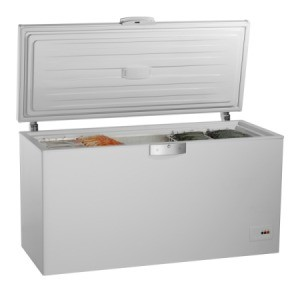 Open chest freezer