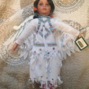 native American female doll