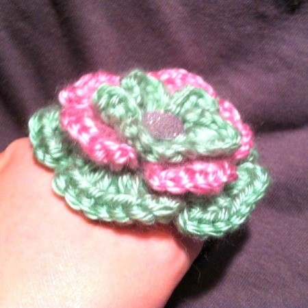 Sweet Pea Crochet Flower