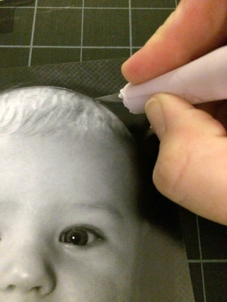 Baby Faces Birthday Banner - cut out photo 1