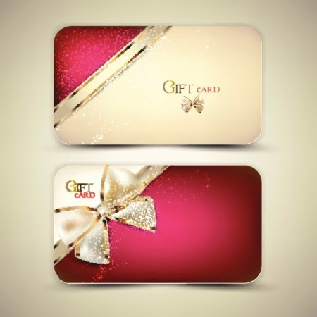 gift cards tied with ribbon