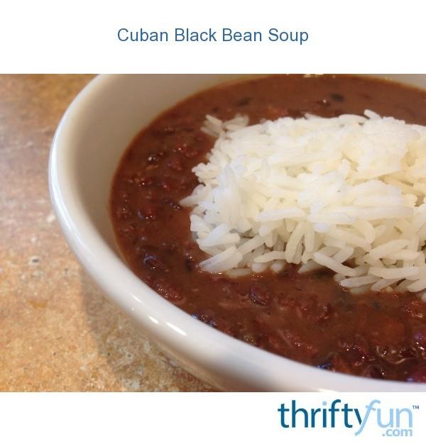 Cuban Black Bean Soup   ThriftyFun