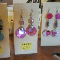 earrings displayed on finished cards
