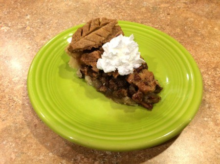 slice of pie with whipped cream