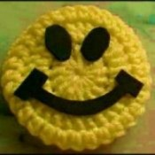 smiley face door knob cover
