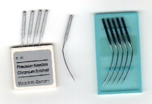 package of curved sewing machine needles