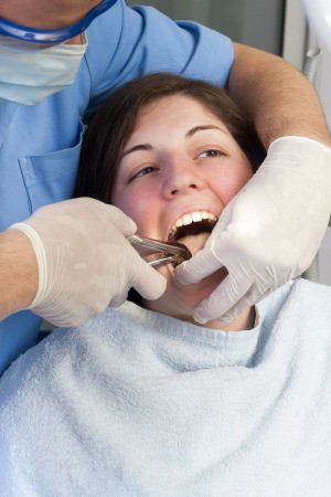 Woman Having Tooth Pulled