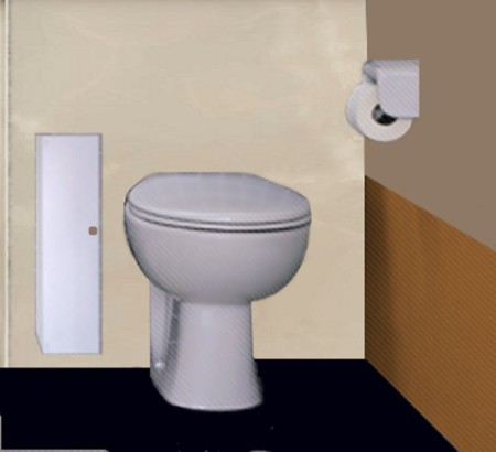 Cabinet for Storing Toilet Tissue
