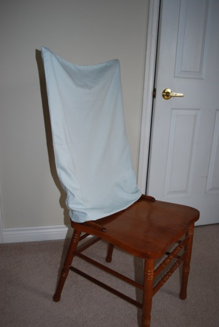 Pillowcase as Chair Cover