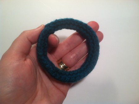 finished blue bangle