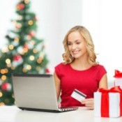 Woman Shopping for Long Distance Relationship Christmas Gift