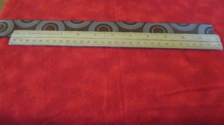 measure 12 inches in from end