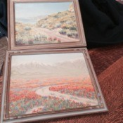 two painting of California wildflowers
