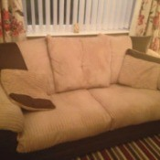 beige and dark brown couch