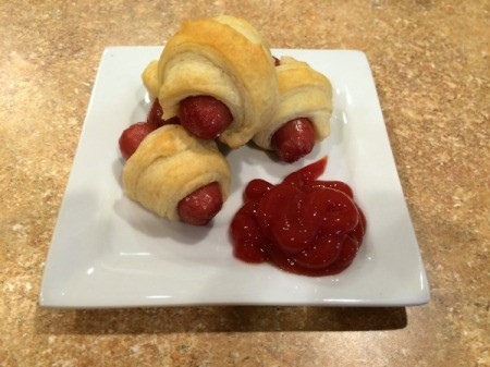 pigs in a blanket with ketchup