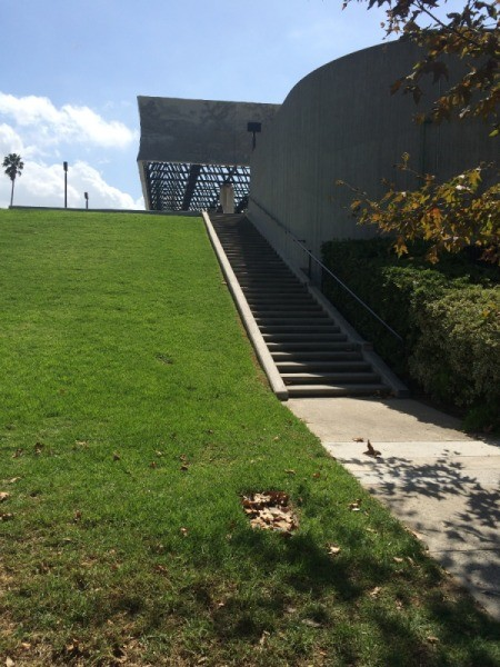stair outside museum