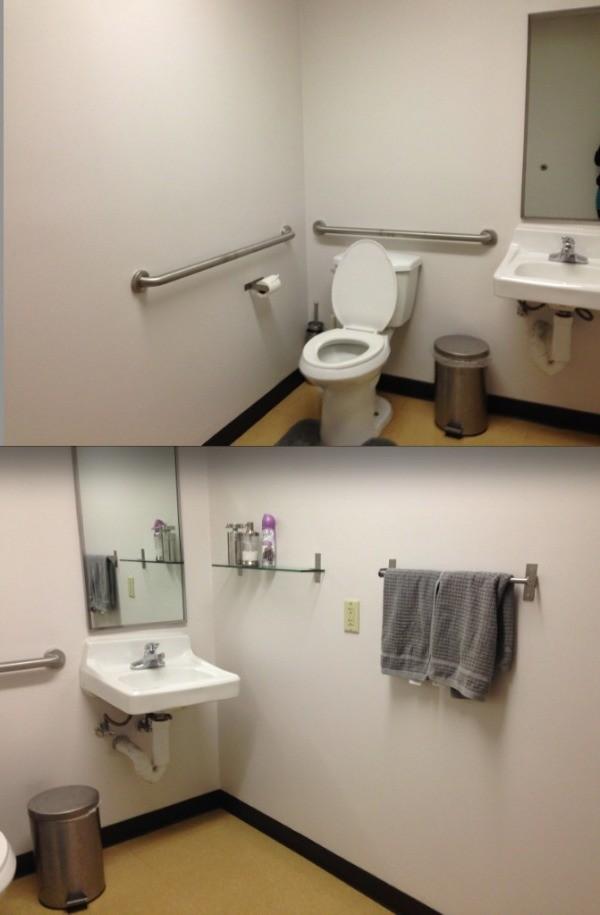 Decorating an office bathroom thriftyfun for Office bathroom design