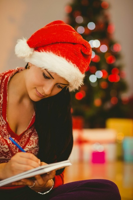 Woman Planning for Christmas