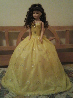 doll with yellow dress