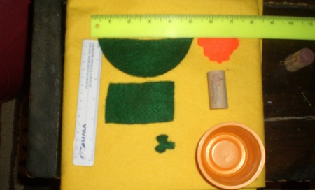 Supplies for leprechaun craft