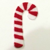 Felt Candy Cane Ornament