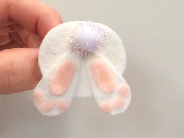 Felt Bunny Bottom Pin
