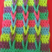 Connecting Loops Crocheted Scarf