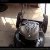 A screen shot from the video blog telling how to fix any lawnmower