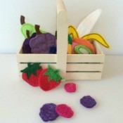 Felt Fruit Basket