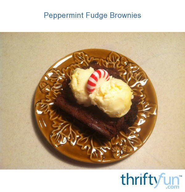 Peppermint Fudge Brownies | ThriftyFun