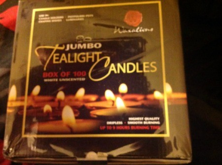 package of tea light candles
