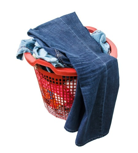 basket of dirty laundry